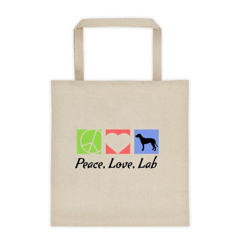 Tote Bag - Peace, Love, Lab -