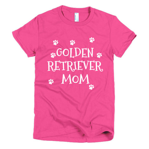 Golden Retriever Mom - Short Sleeve Women's T-Shirt -  - 1