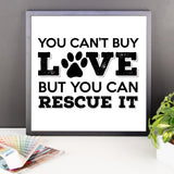 Rescue Dog Love - Framed Poster -  - 10