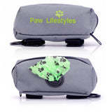 Paw Lifestyles - Premium Dog Poop Bag Dispenser Leash Attachment, Includes Roll Of Doggy Waste Bags - Paw Lifestyles Brand - Dog and Pet Products  - 1