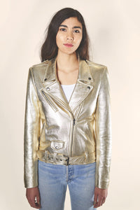 Gold Leather Jacket