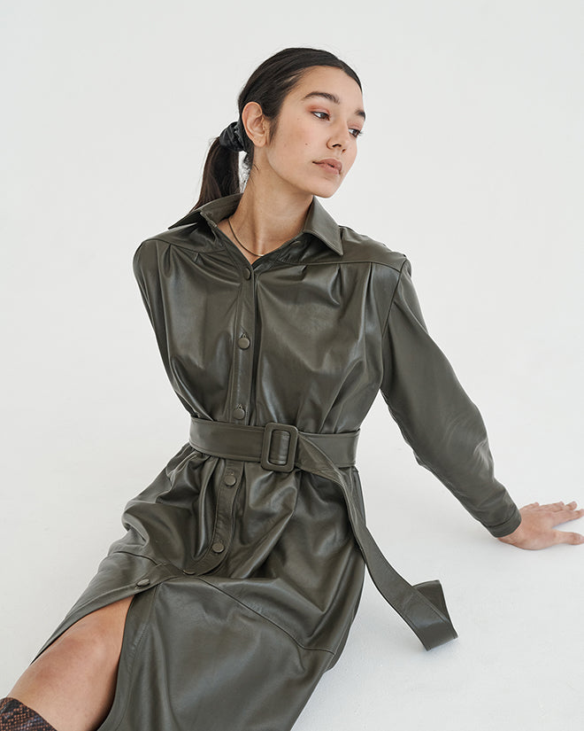Ronny Dress in Olive