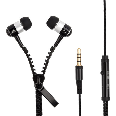 3.5mm Metal Zipper Earphones with mic is available here at BonusSkate you can also find subscription products, skateboarding products and video bogs, mens apparel, and latest innovative products.