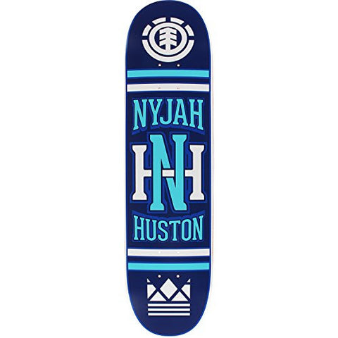 "Element Skateboards Nyjah Huston Monogram Skateboard Deck - Featherlight Construction - 8"" x 32.18"" is available here at BonusSkate you can also find subscription products, skateboarding products and video bogs, mens apparel, and latest innovative products."