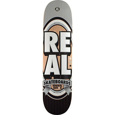 "Real Skateboards Renewal Stack Silver Skateboard Deck - 8.06"" x 32"" is available here at BonusSkate you can also find subscription products, skateboarding products and video bogs, mens apparel, and latest innovative products."