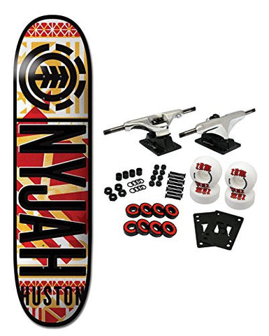"ELEMENT Skateboard Complete NYJAH HUSTON KNOCKOUT 8.25"" is available here at BonusSkate you can also find subscription products, skateboarding products and video bogs, mens apparel, and latest innovative products."