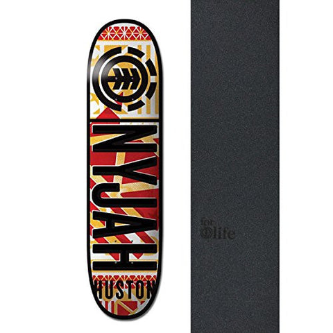 "ELEMENT Skateboard Deck NYJAH HUSTON KNOCKOUT 8.25"" with LOGO GRIPTAPE is available here at BonusSkate you can also find subscription products, skateboarding products and video bogs, mens apparel, and latest innovative products."