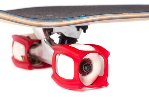 SkaterTrainer 2.0, The Rubber Skateboarding Accessory for Perfecting Your Ollie and Kick flip- Learn, 4-Pack, Red is available here at BonusSkate you can also find subscription products, skateboarding products and video bogs, mens apparel, and latest innovative products.