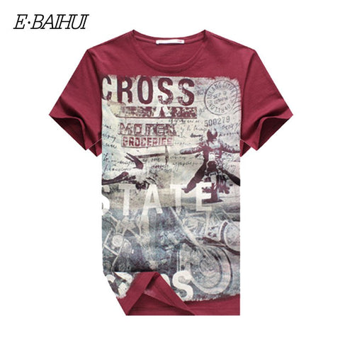 E-BAIHUI  Men's Cotton T-shirt is available here at BonusSkate you can also find subscription products, skateboarding products and video bogs, mens apparel, and latest innovative products.