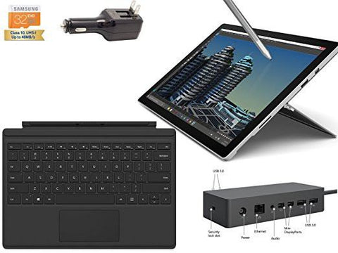 "2015 Newest Microsoft Surface Pro 4 Core i5-6300U 4G 128GB 12.3"" touch screen w/ 2736x1824 3K 3:2 QHD Windows 10 Pro (Black Cover, Dock Bundle) is available here at BonusSkate you can also find subscription products, skateboarding products and video bogs, mens apparel, and latest innovative products."