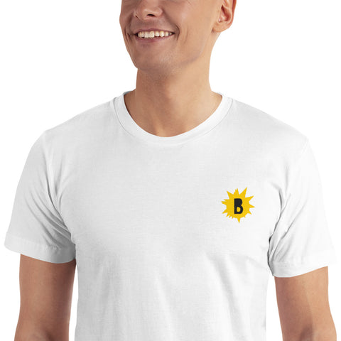 Embroidered B-Star T-Shirt is available here at BonusSkate you can also find subscription products, skateboarding products and video bogs, mens apparel, and latest innovative products.