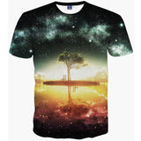 Space Galaxy T-shirt Men/Women Harajuku Hip hop Brand T-shirt 3d Print Nightfall Tree Summer Tops Tees T shirt is available here at BonusSkate you can also find subscription products, skateboarding products and video bogs, mens apparel, and latest innovative products.