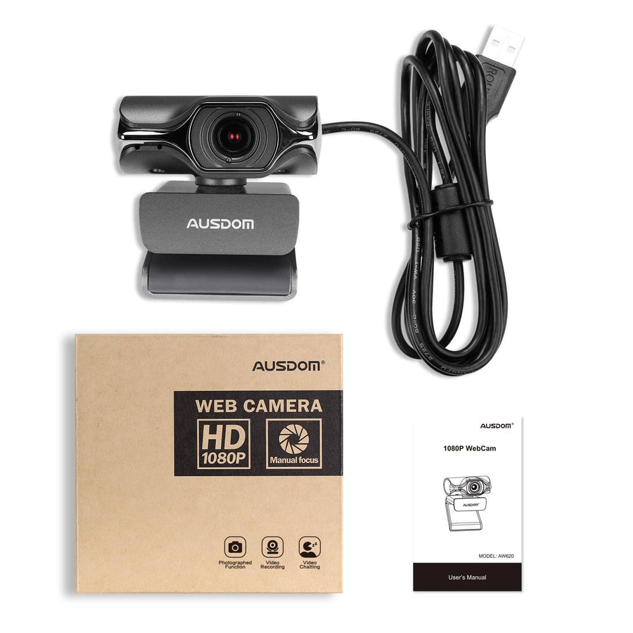 Webcam HD 1080P Ausdom AW620 Web Computer Camera with Microphone