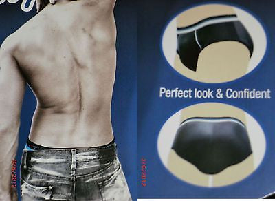 MEN'S PADDED BUTT BOOSTER BOOTY ENHANCER MOLDED PAD BRIEF