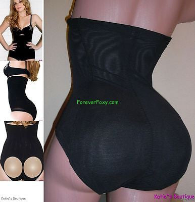 BUTT ENHANCER & BODYSHAPER hi-waist girdle seamless 8012 black Sz 2Xl (10-12)