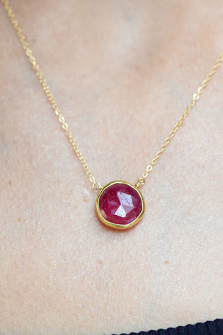 "The ""Jenet"" Ruby Necklace: Benefitting Your Choice of Charity"