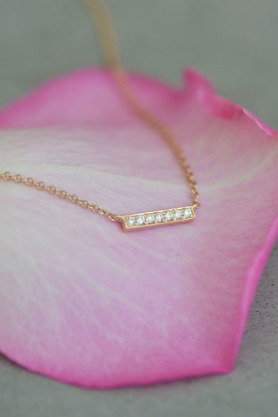 Diamond Bar Necklace: Benefitting Your Choice of Charity