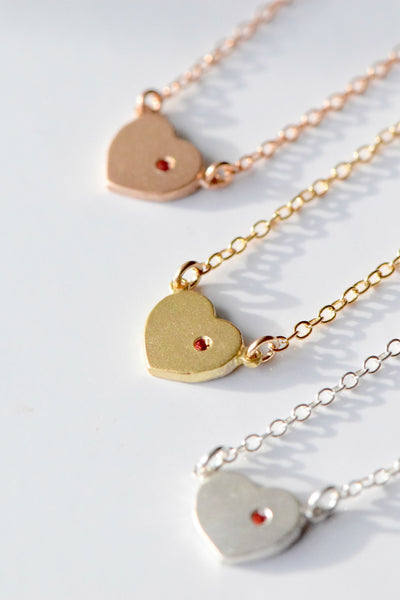 """With Love in My Heart"" Necklace: Benefitting The Trevor Project (Orange Sapphire)"