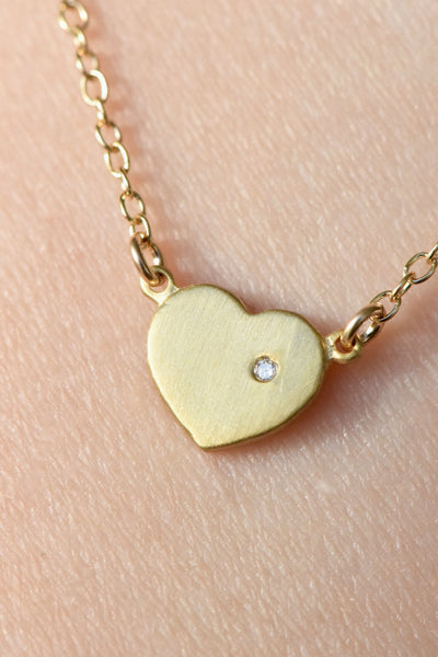 """With Love in My Heart"" Necklace: Benefitting American Humane Association (White Diamond)"