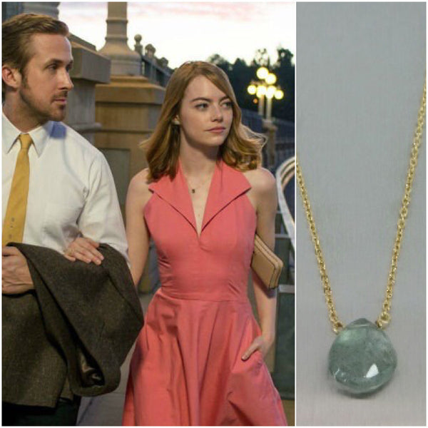 Green Moss Aquamarine Necklace: Benefitting Your Choice of Charity