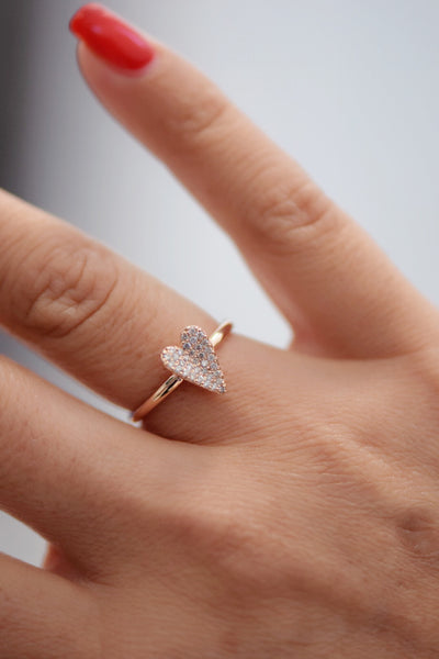 Diamond Pavé Heart Rings: Benefitting Your Choice of Charity