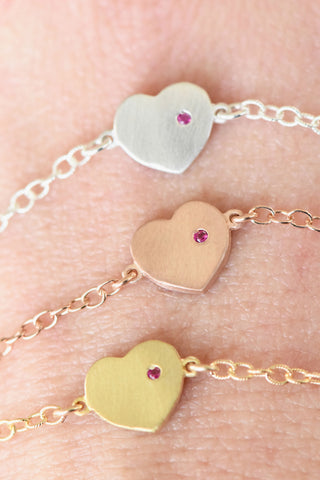 """With Love in My Heart"" Bracelet: Benefitting Kind Campaign (Ruby)"