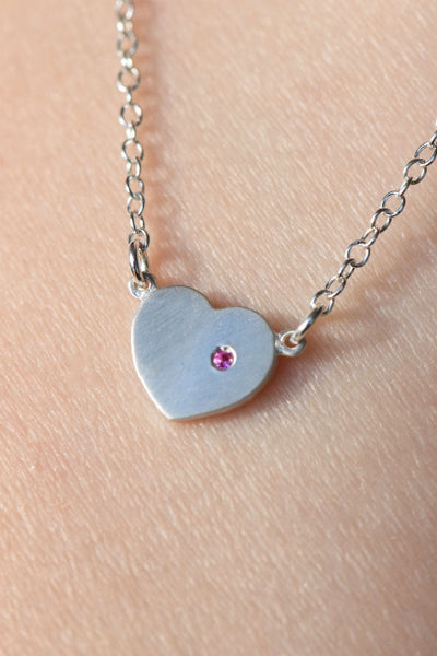 """With Love in My Heart"" Necklace: Benefitting Susan G. Komen LA (Pink Sapphire)"