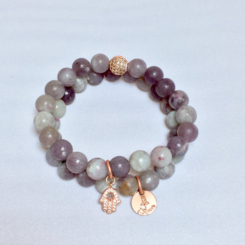 Lilac Adventurine Double Stack
