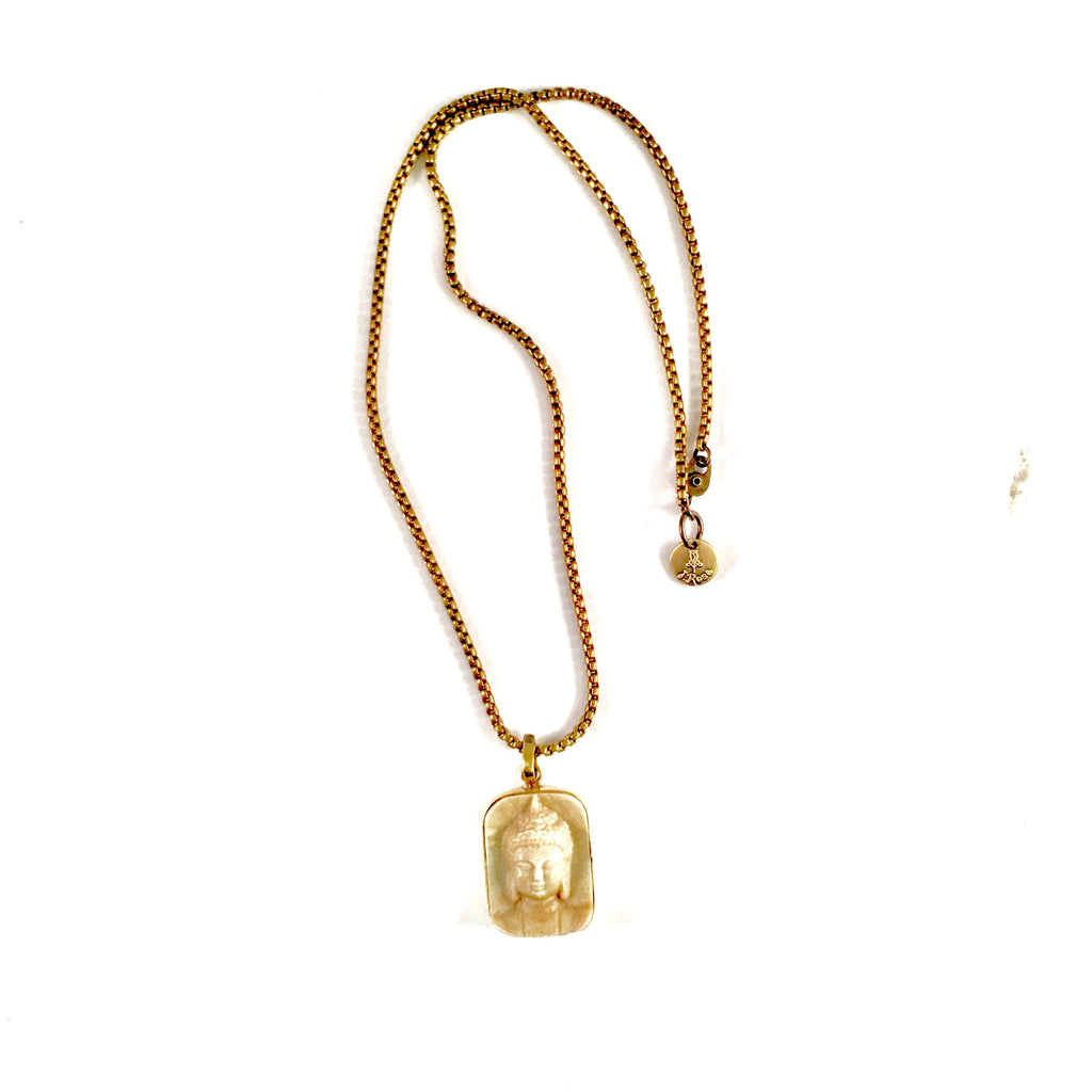 Brass Buddha Necklace