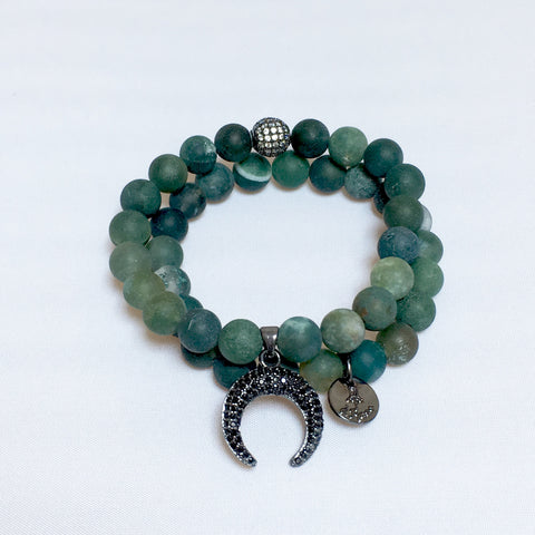 Dark Green Matte Onyx Double Stack