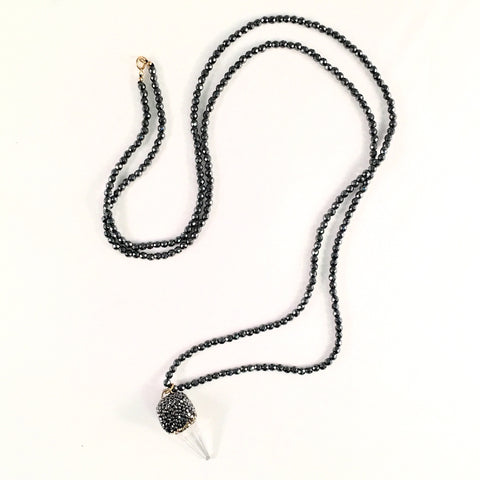 Hematite Crystal Shard Necklace