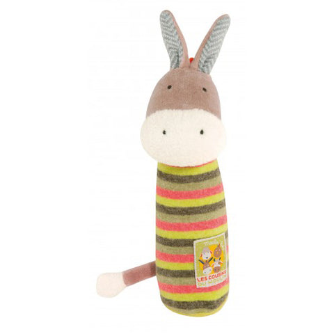 Moulin Roty Les Cousins Donkey Squeaky Toy