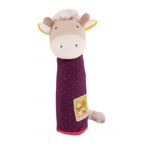 Moulin Roty Les Cousins Cow Squeaky Toy