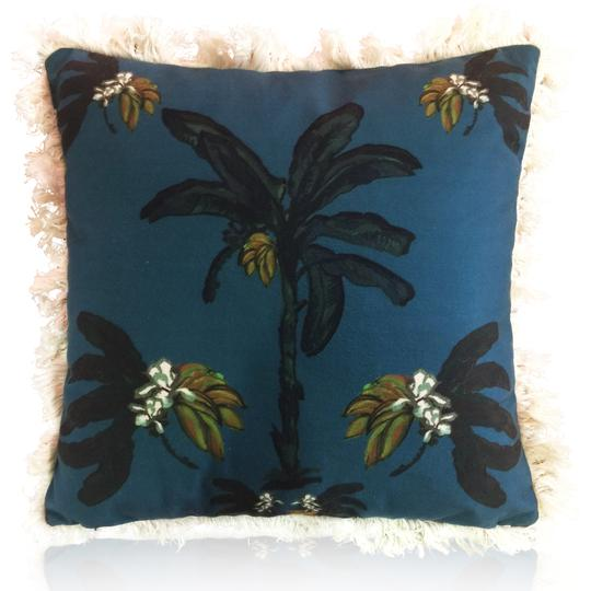 Libby Watkins Banana Bungalow Cushion with lush fringing