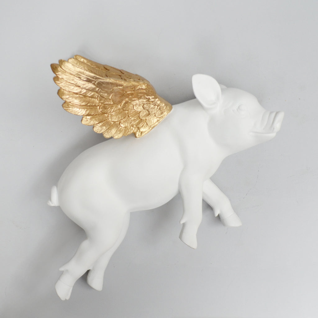 White Moose Flying Pig