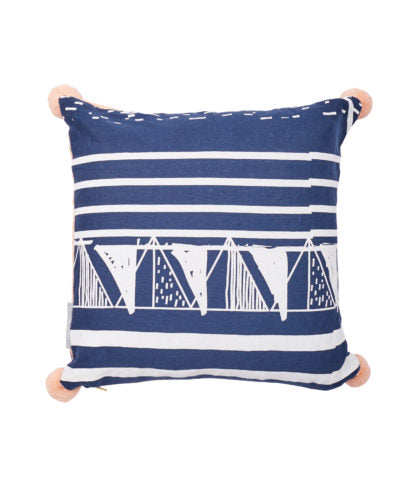 Lumiere Pom Navy Monday cushion