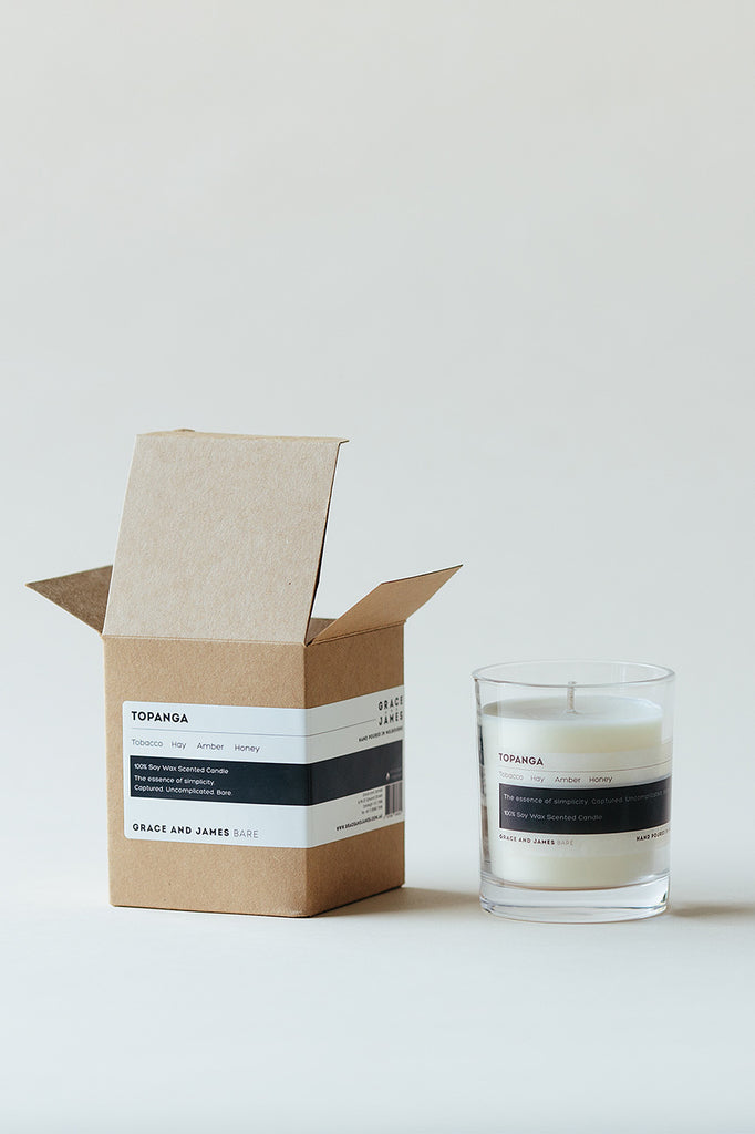 Grace & James Bare Candle - Topanga