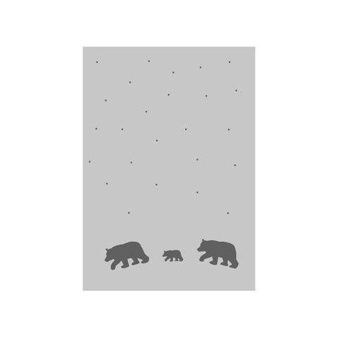Knit Bear Dots Stroller Blanket - Charcoal
