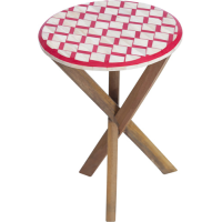 Ruby Star Oak / Bone Crimson Table