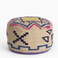 Ruby Star Checkerboard Pouffe