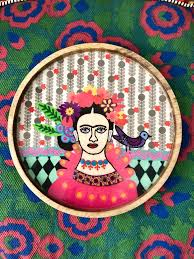 Ruby Star Frida Kahlo Tray