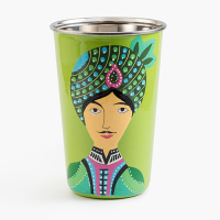 Indian Colourful Tin Cup Tumbler - Ruby Star