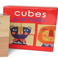 Moulin Roty Cubes Portraits