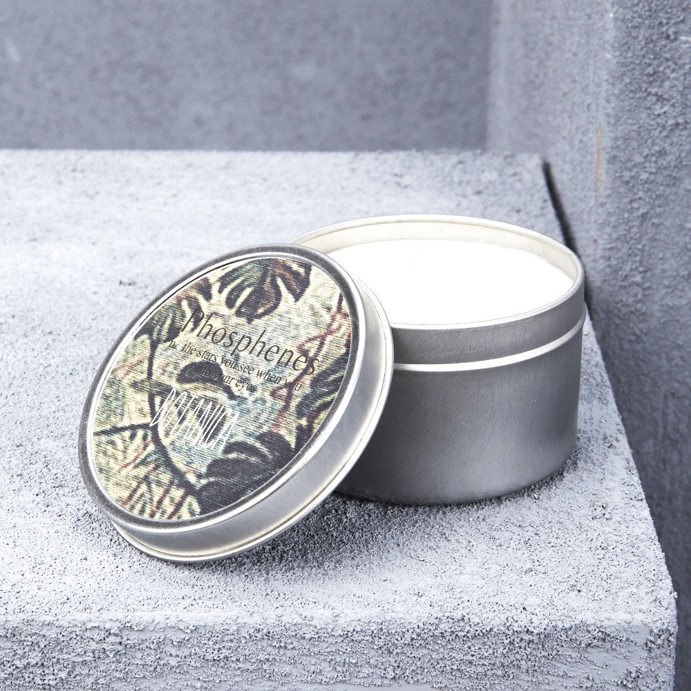 Inartisan Silver Tin Candles - Various