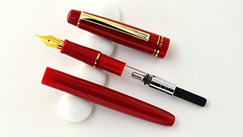 Brand New Original HERO Wing Red Fountain Pen Set - 1 extra nib unit Attached Free