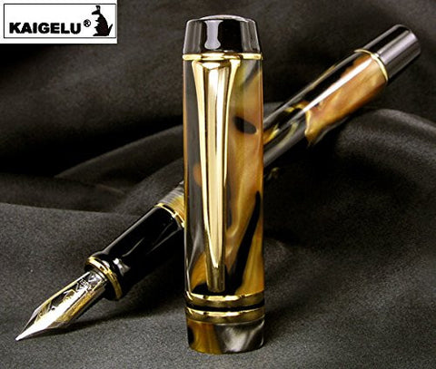Brand New Original Kangaroo African Marble Resin Amber Brown Fountain Pen