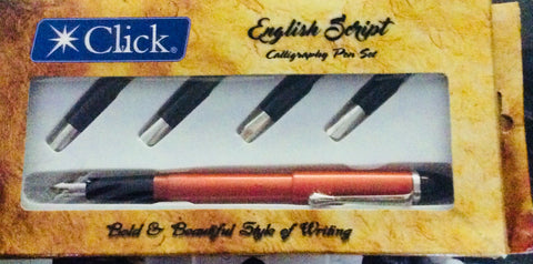 New Click English Script Calligraphy Eye Dropper Metallic Orange Fountain Pen