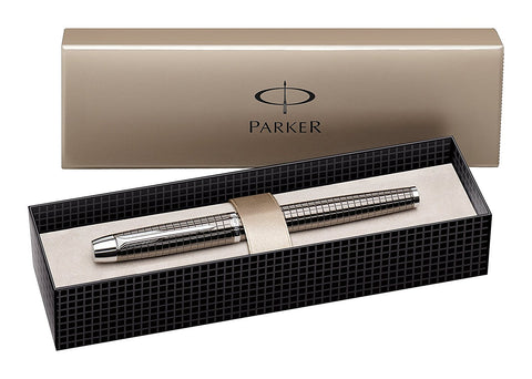 English Parker IM Black Chrome Trim Premium Deep Gun Metal Fountain Pen Offer Price