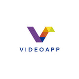 Video App - Letter V Logo - Logo Cosmos
