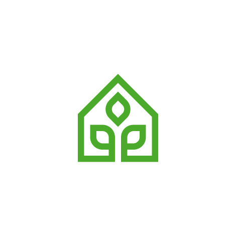 Green Herbal Plant House Home Logo